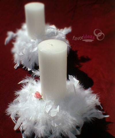 Traditional Mexican Wedding Songs on Simple But Lovely Centerpiece For Your Angel Wedding Pillar Candles